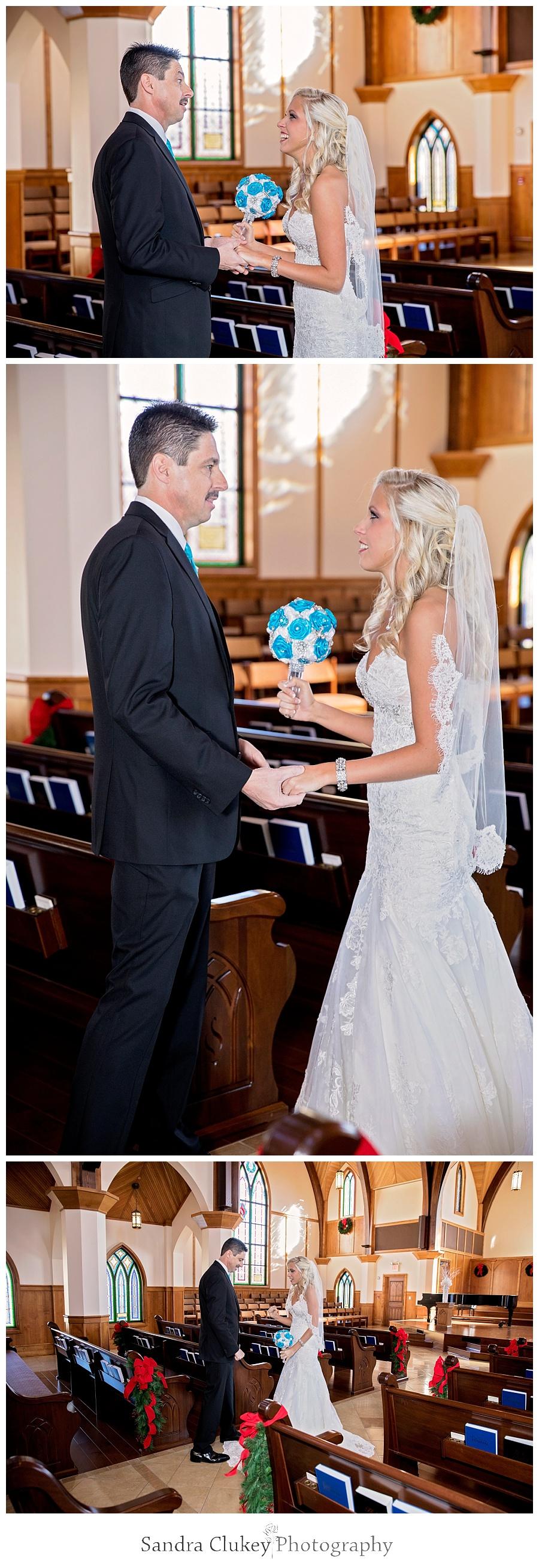 Bride with Dad prior to wedding