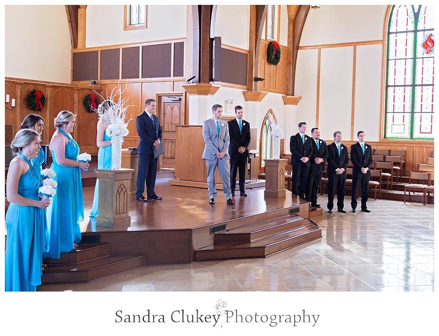 Bridal Party at Alter
