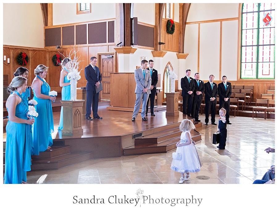 Full Bridal Party at Alter