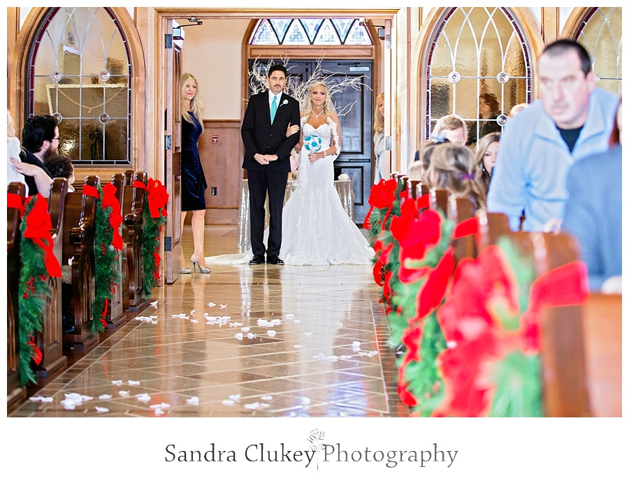 Bride and Father walking down center isle
