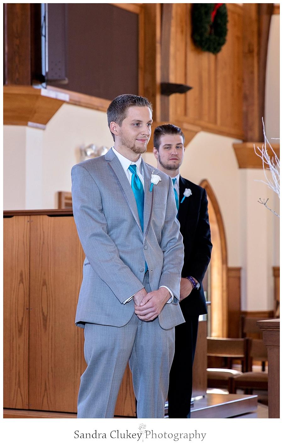 Groom anticipates his Bride