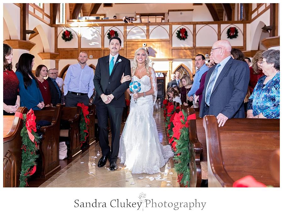 Father escorts the Bride