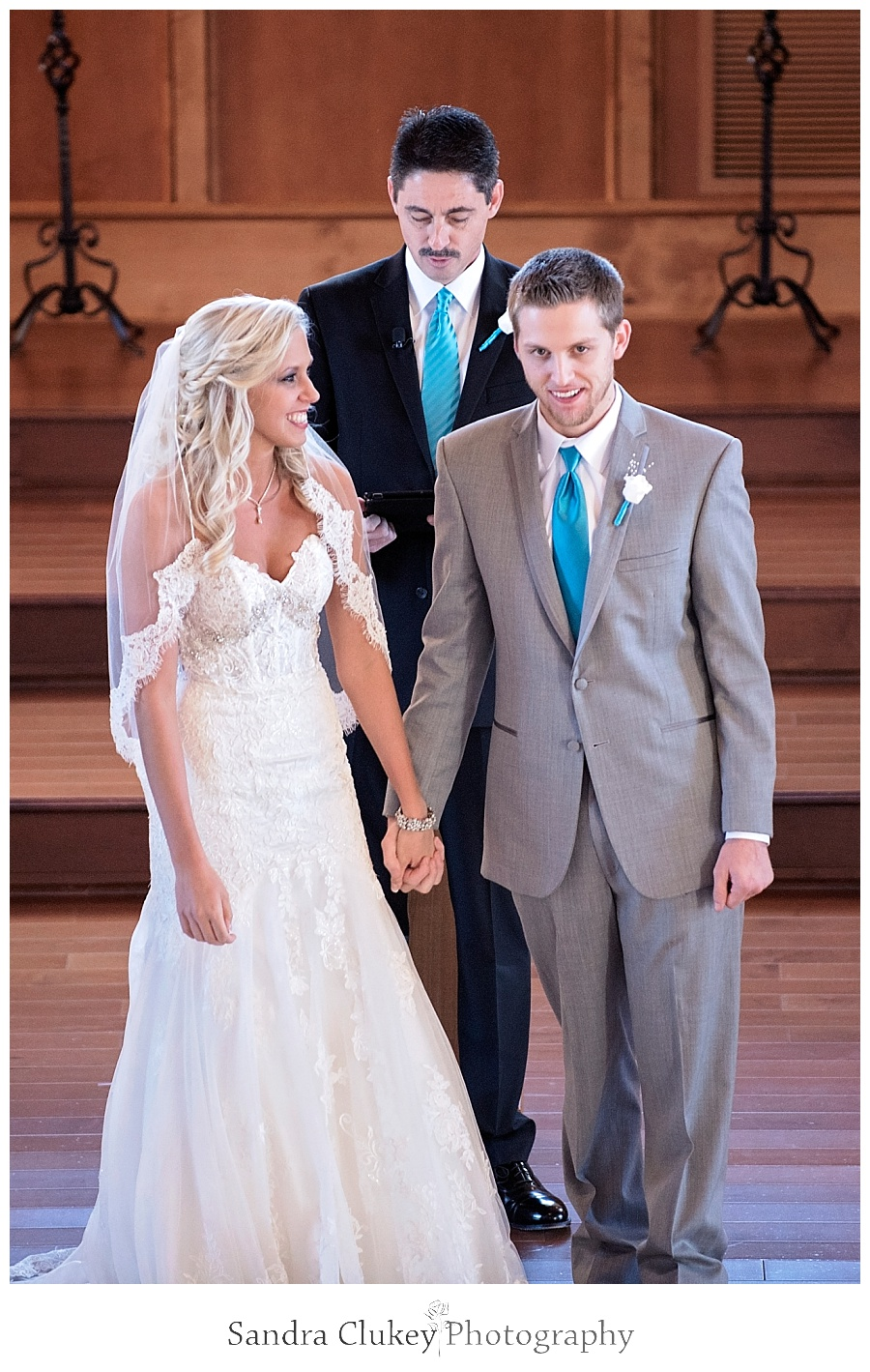 "Bride and Groom say ""I do"""