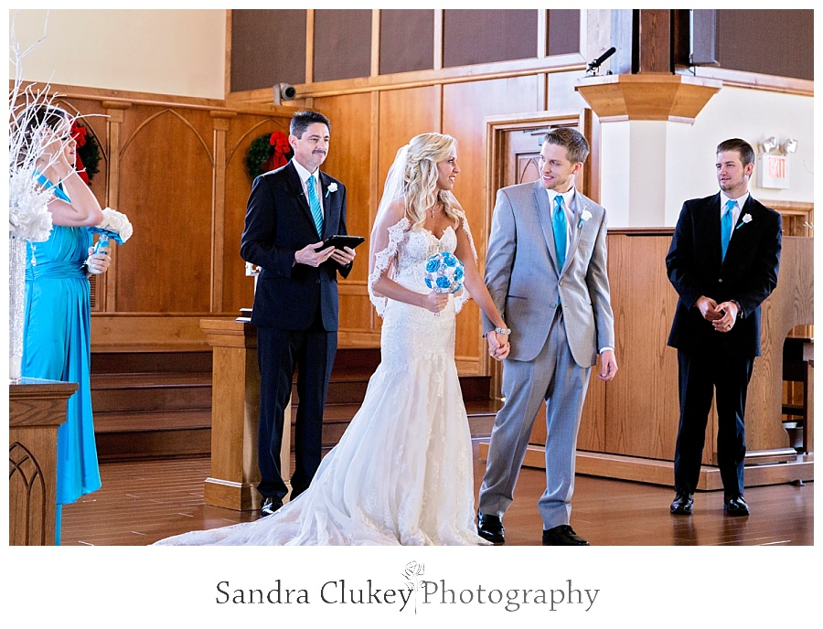 Bride and Groom Tie the knot