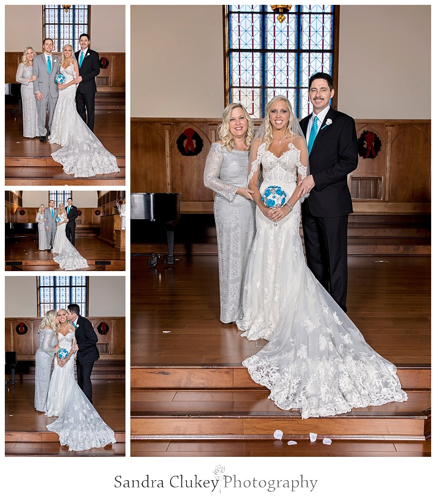 Stunning formals of Bride with parents