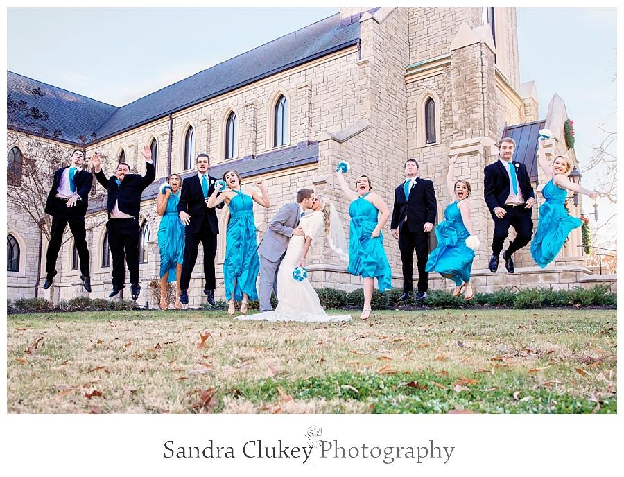 Lee University wedding jump