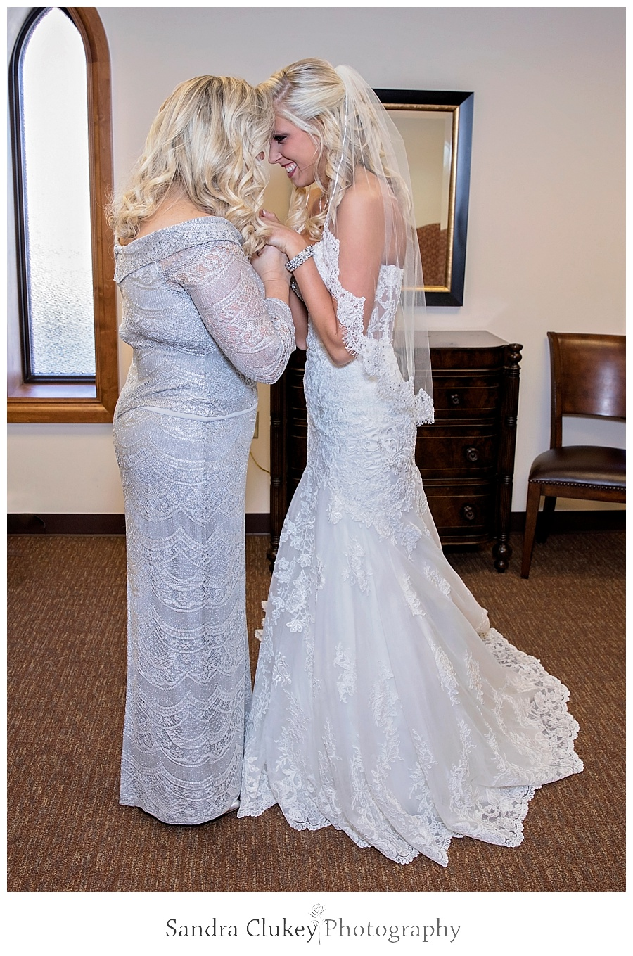 Bride and Mom have a special moment