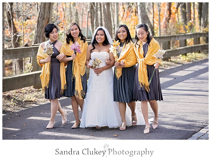 Casual moment of bride and her girls