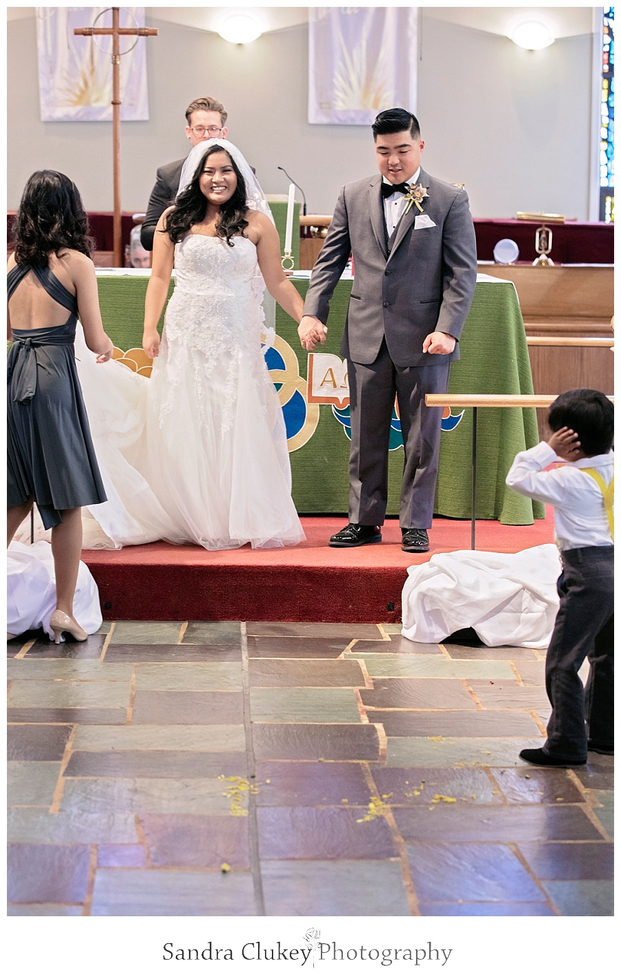 Explosive joy erupts for Mr. and Mrs.