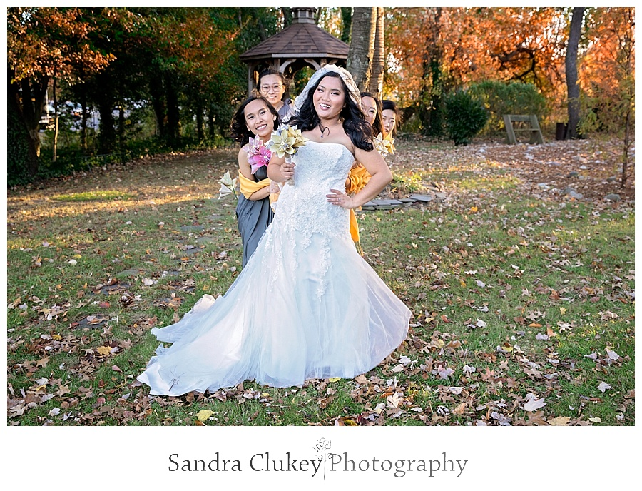 Sassy moment for the bride and her girls