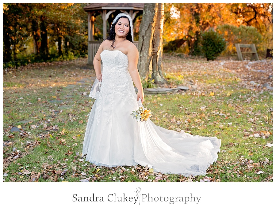 Captivating bridal shot