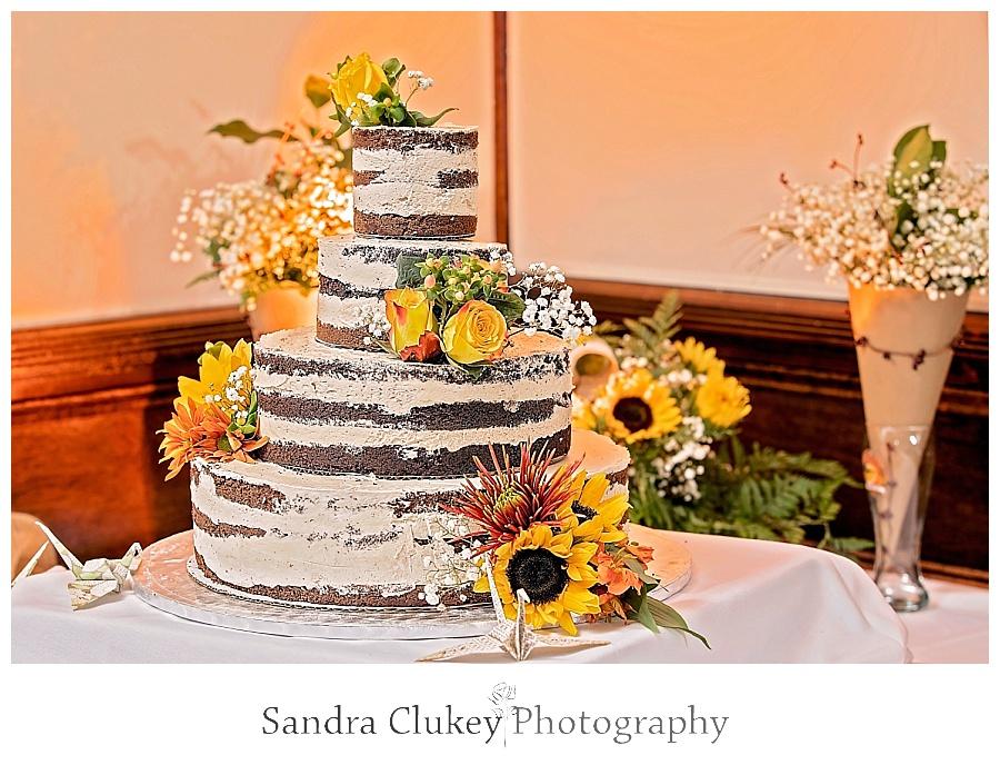 delicious cake presented
