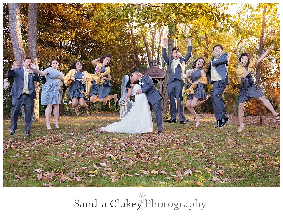 Sky high joy from the bridal party