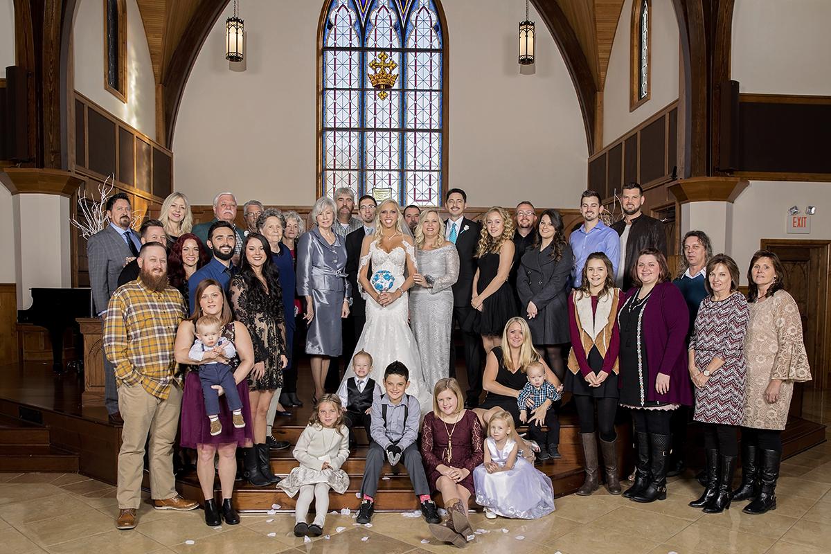 Family Wedding Portrait. Lee University  Chapel, Cleveland TN