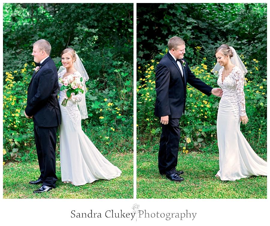 Bride sneaks up on groom