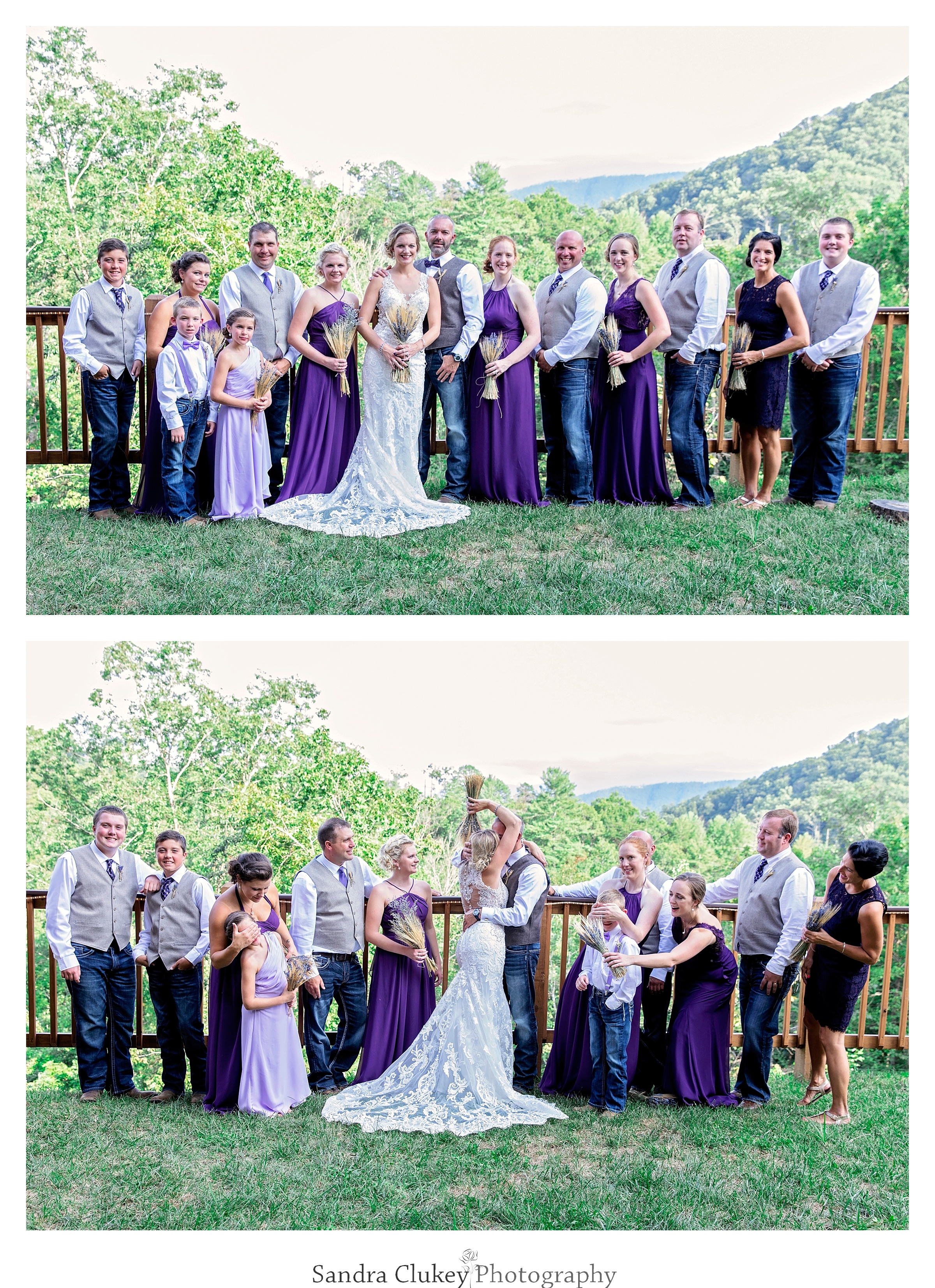 The happy wedding party