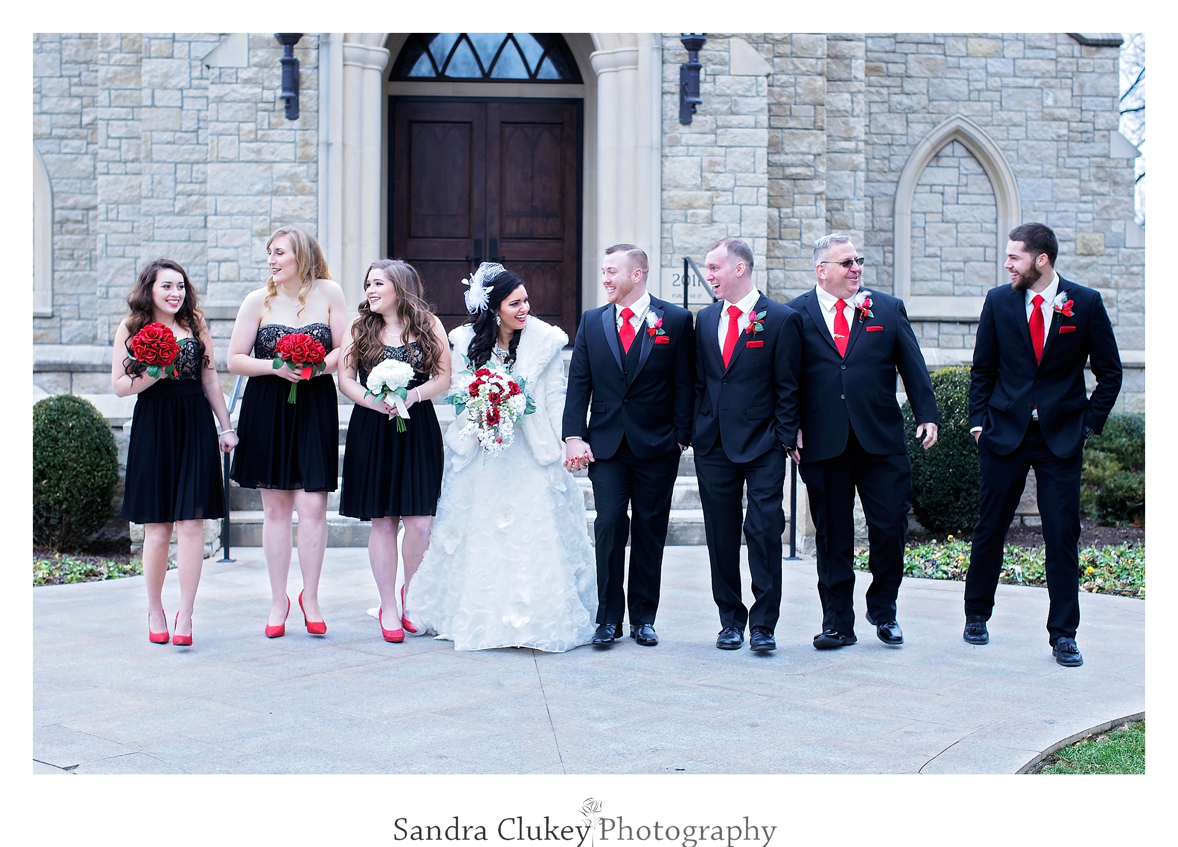 Gathering of the wedding party at  Lee University chapel, Cleveland TN.