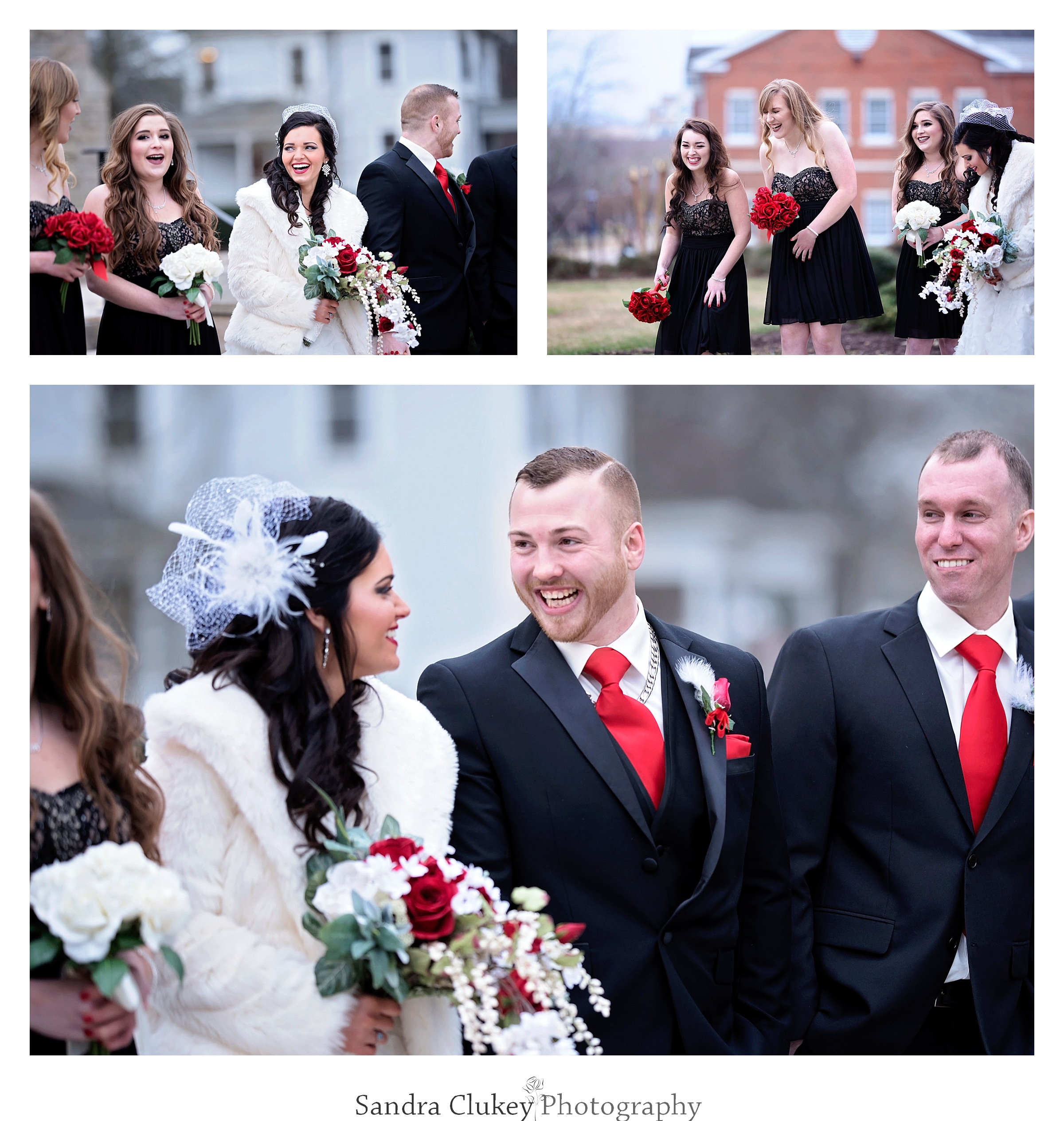 Wedding day laughter ensues at  Lee University chapel, Cleveland TN.