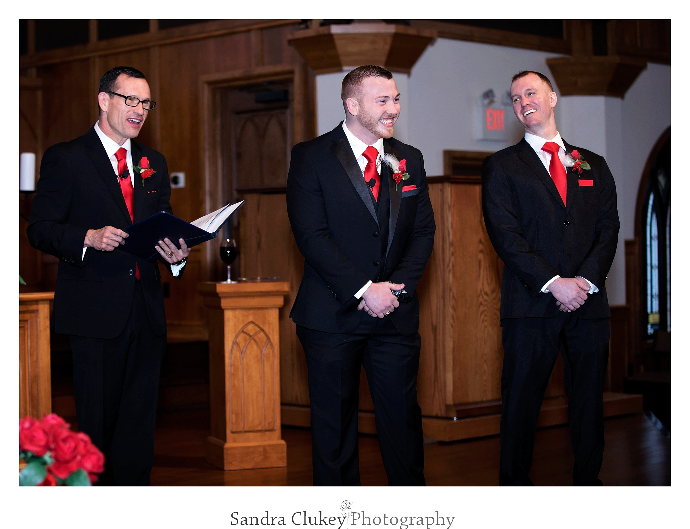 Groom explodes with joy at Lee University Chapel, Cleveland TN