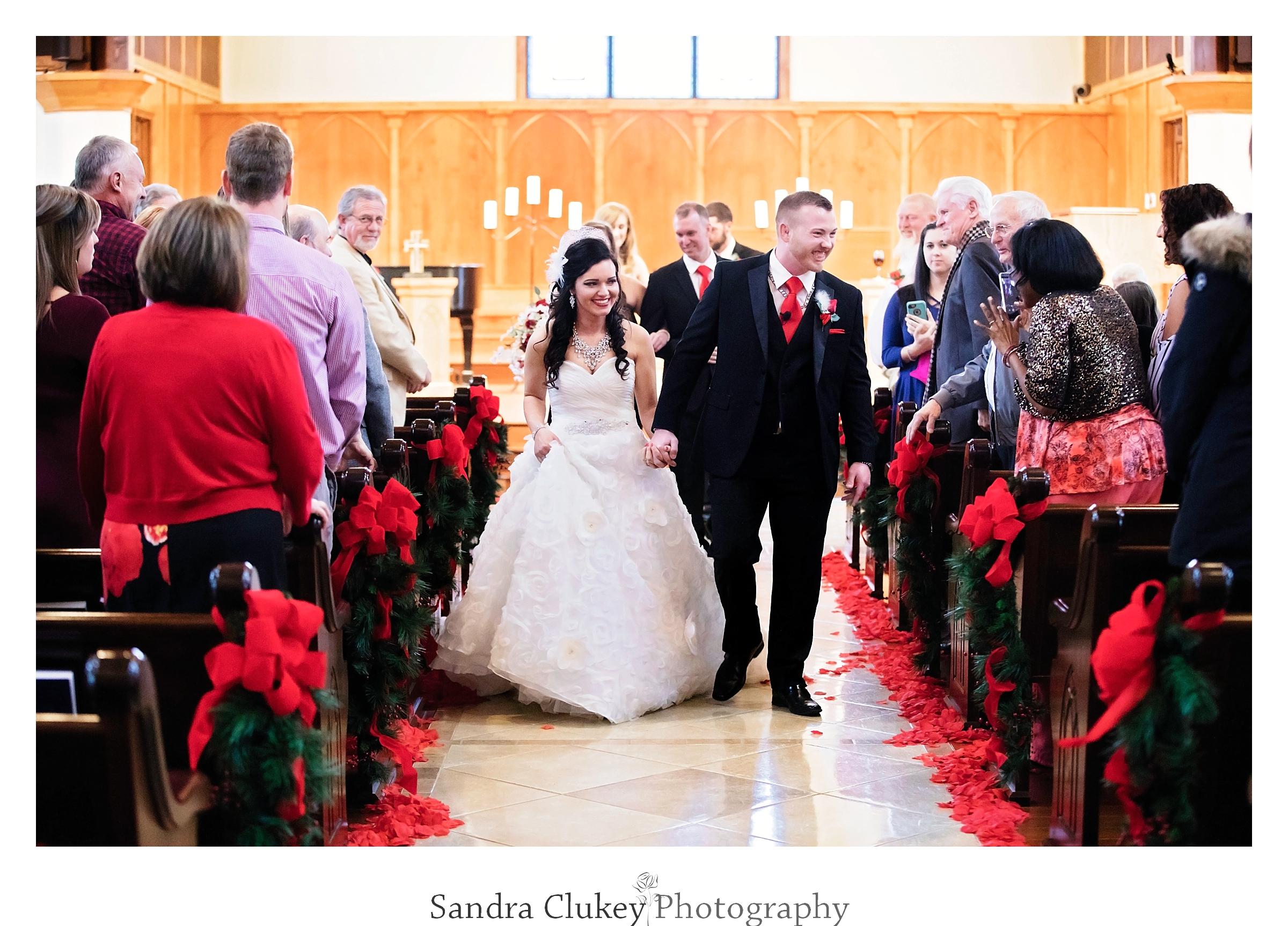 Ladies and gentlemen...Mr. and Mrs at Lee University chapel.