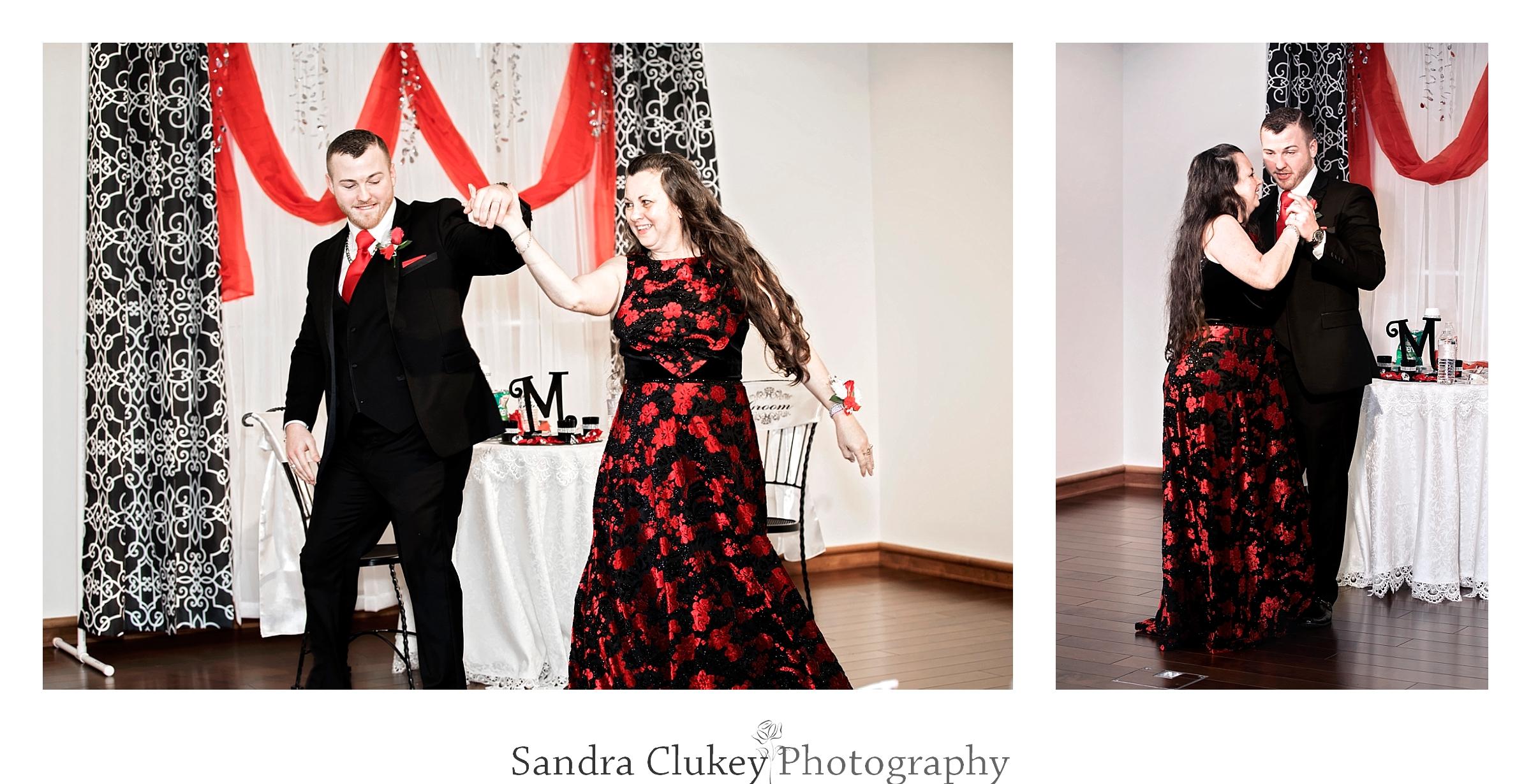 Loving Mom and son dance. Lee University Chapel, Cleveland TN