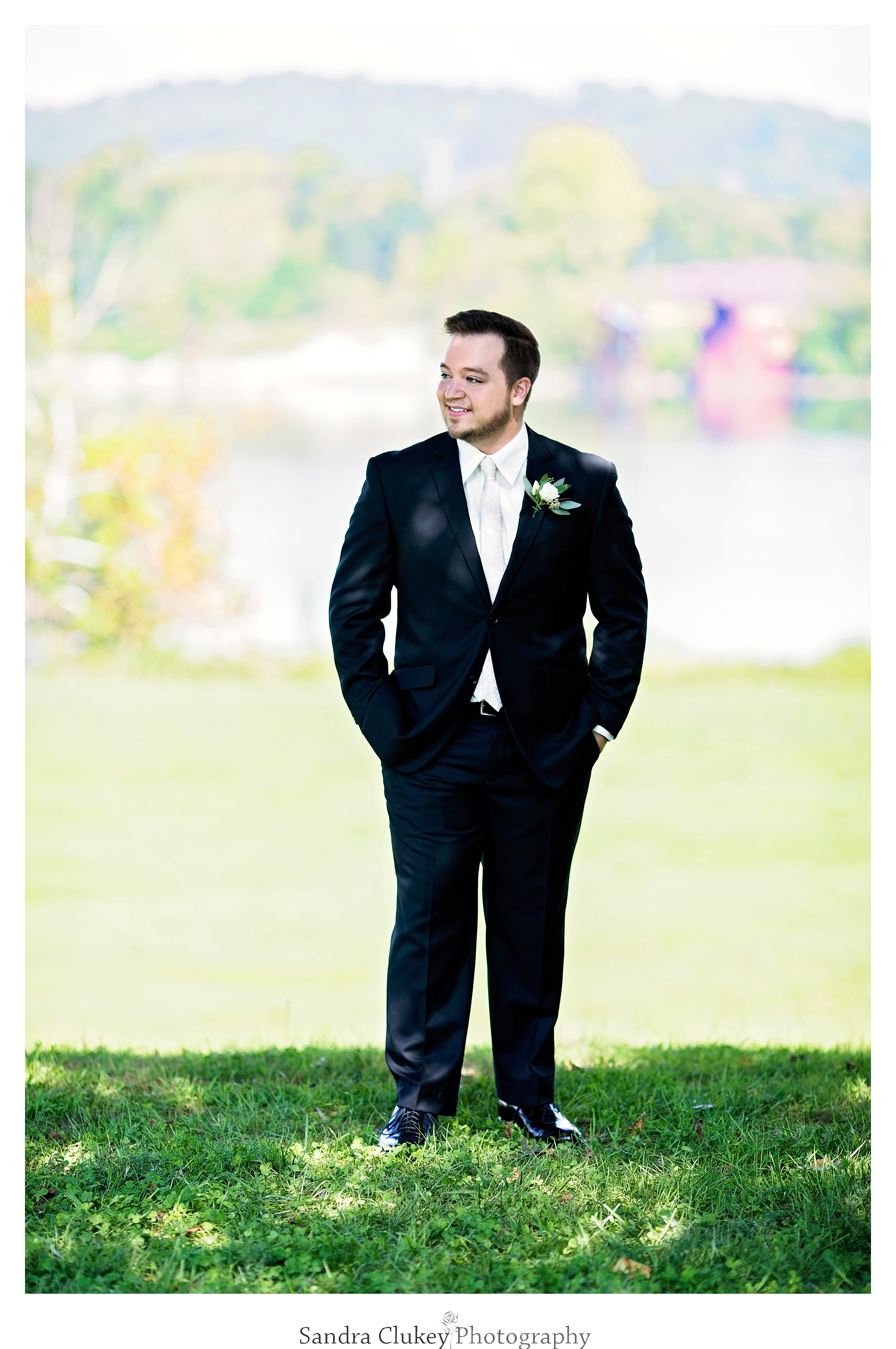 Tennessee RiverPlace, Chattanooga TN. Handsome groom awaits