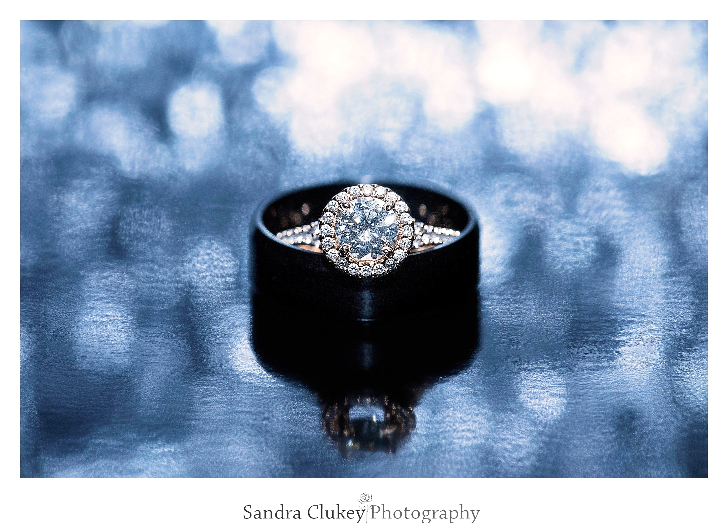 Remarkable fire and ice diamond engagement ring