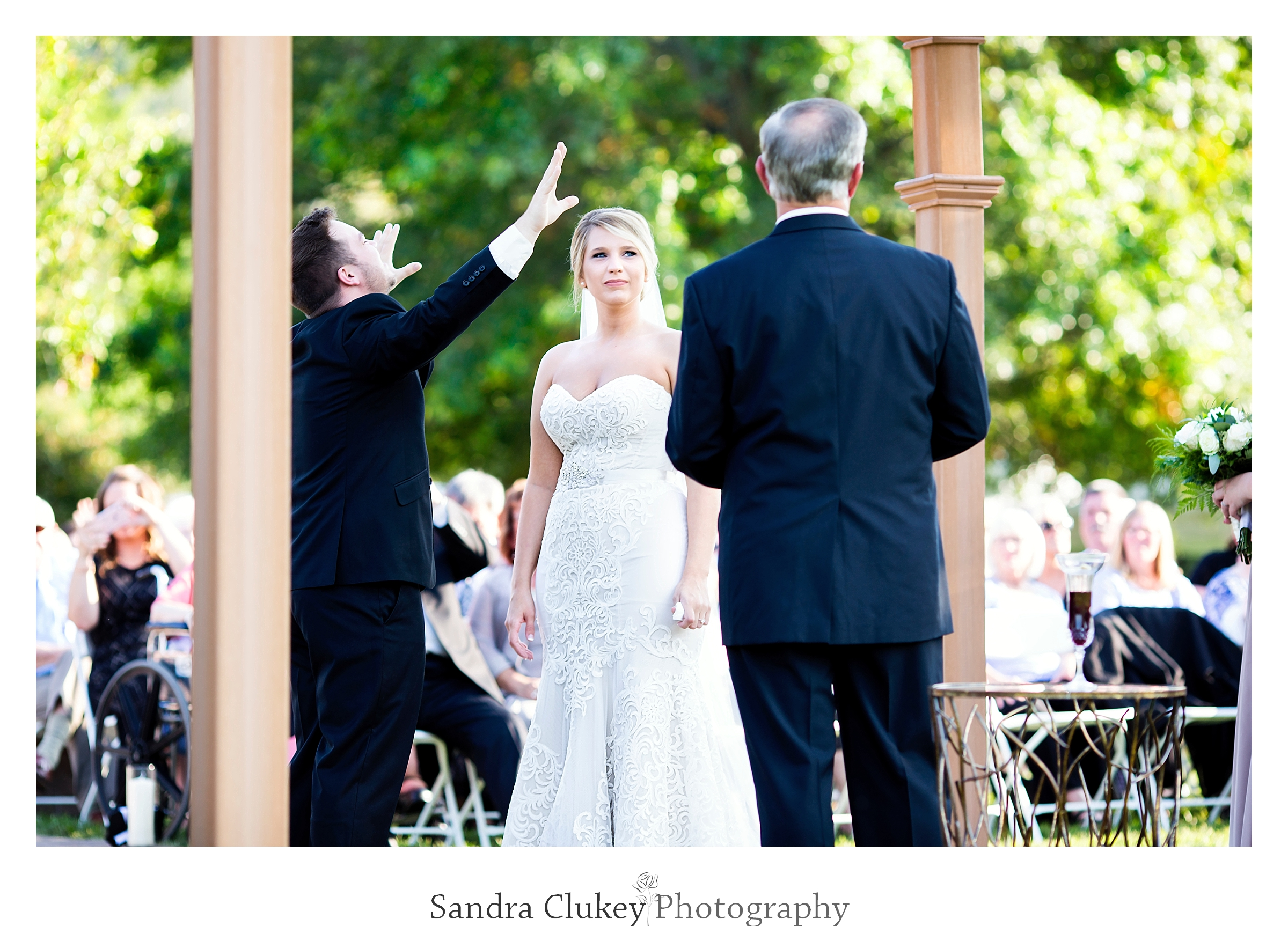The presence of the Holy Spirit at wedding ceremony. Tennessee RiverPlace, Chattanooga TN