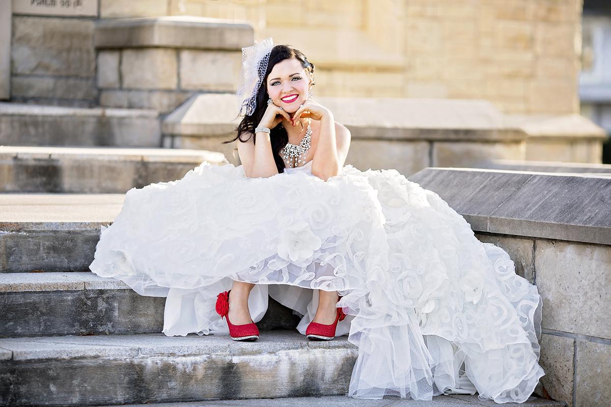 Bridal Portrait at Lee University in Cleveland TN