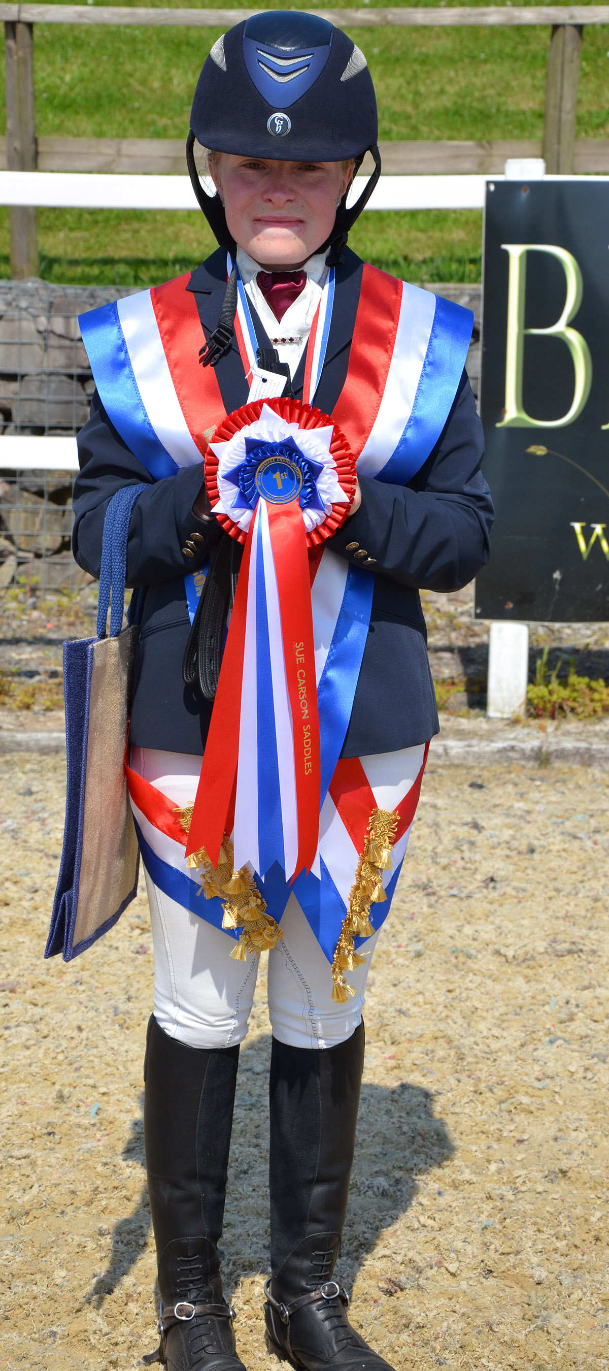 Welsh Dressage Championship - Novice Gold Medalist and Highest Placed BYRD 2016