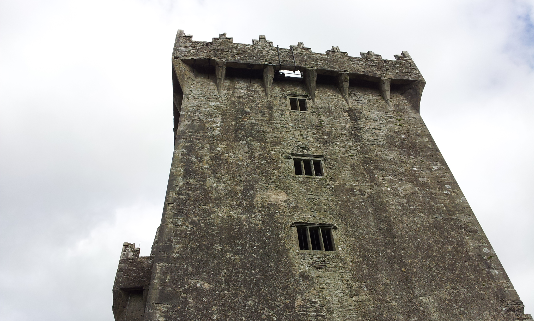 Looking up at the Blarney Stone, just five miles from Cork.