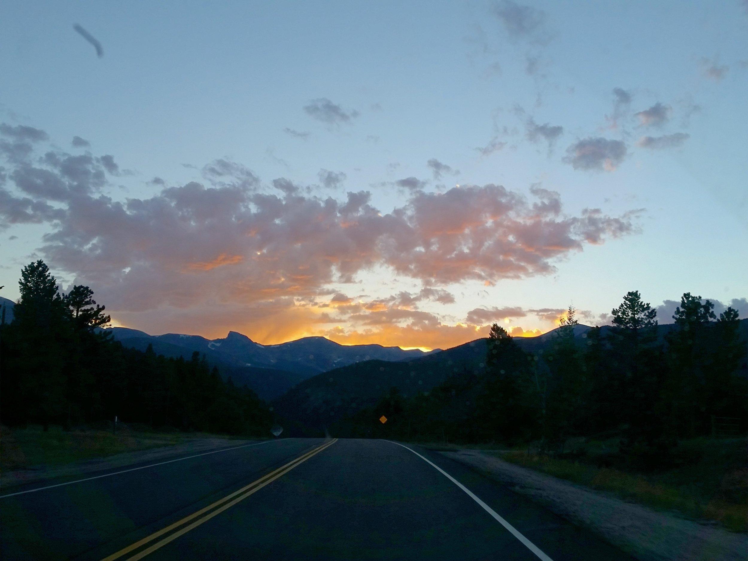 Highway 7 Sunset