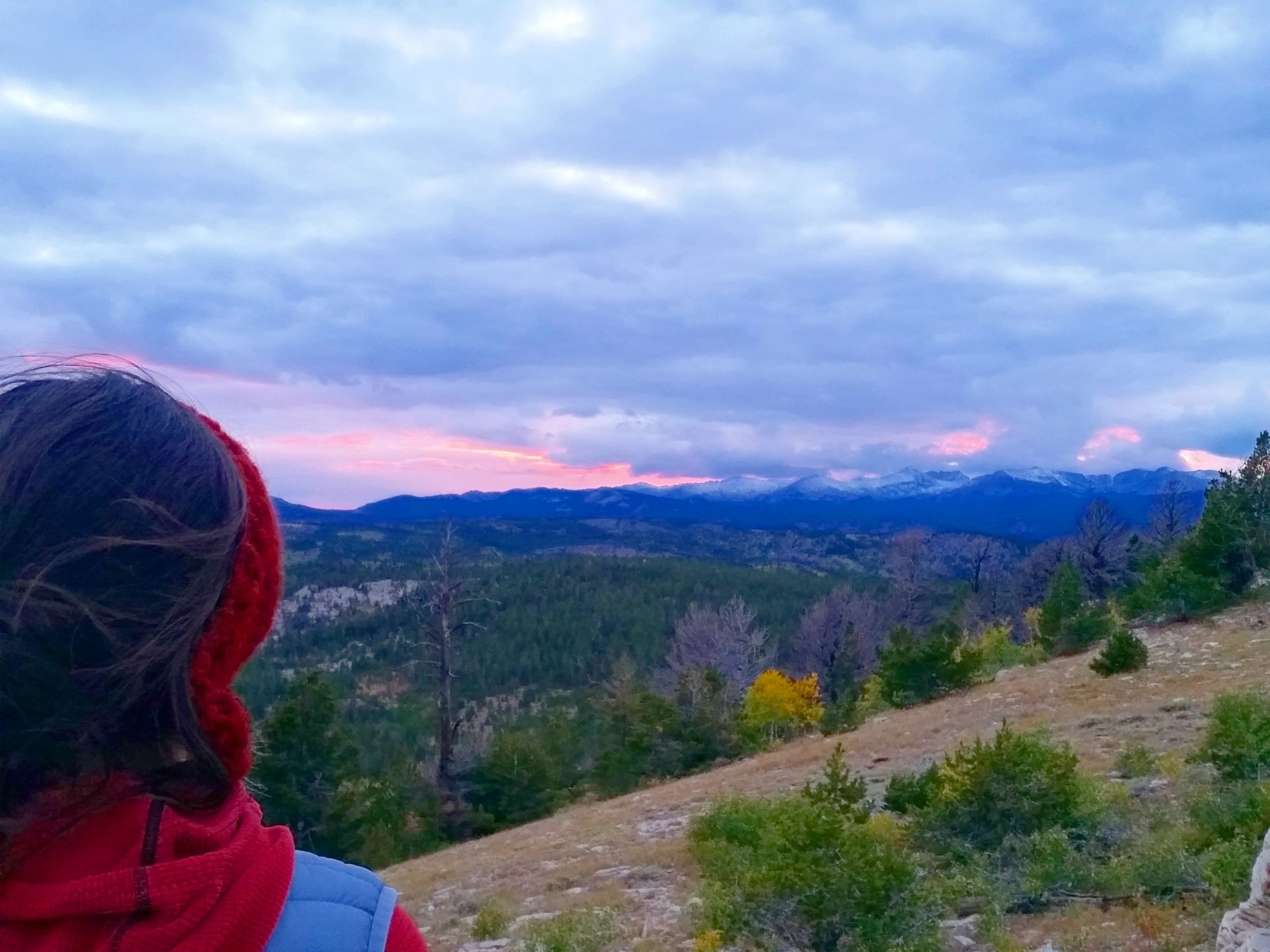 Looking out on the Wind River Mountains