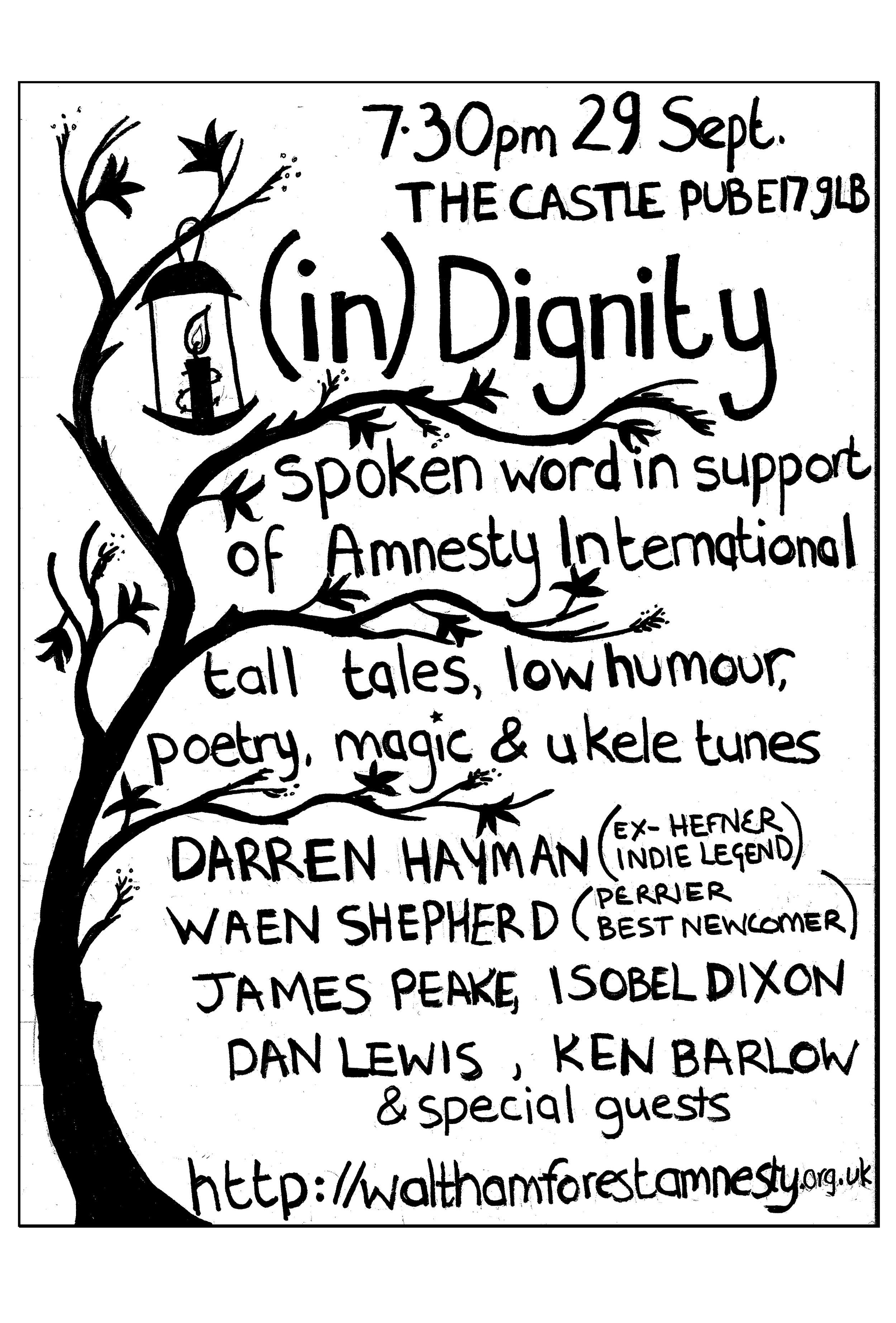 Amnesty International Reading in Walthamstow, 29.9.09
