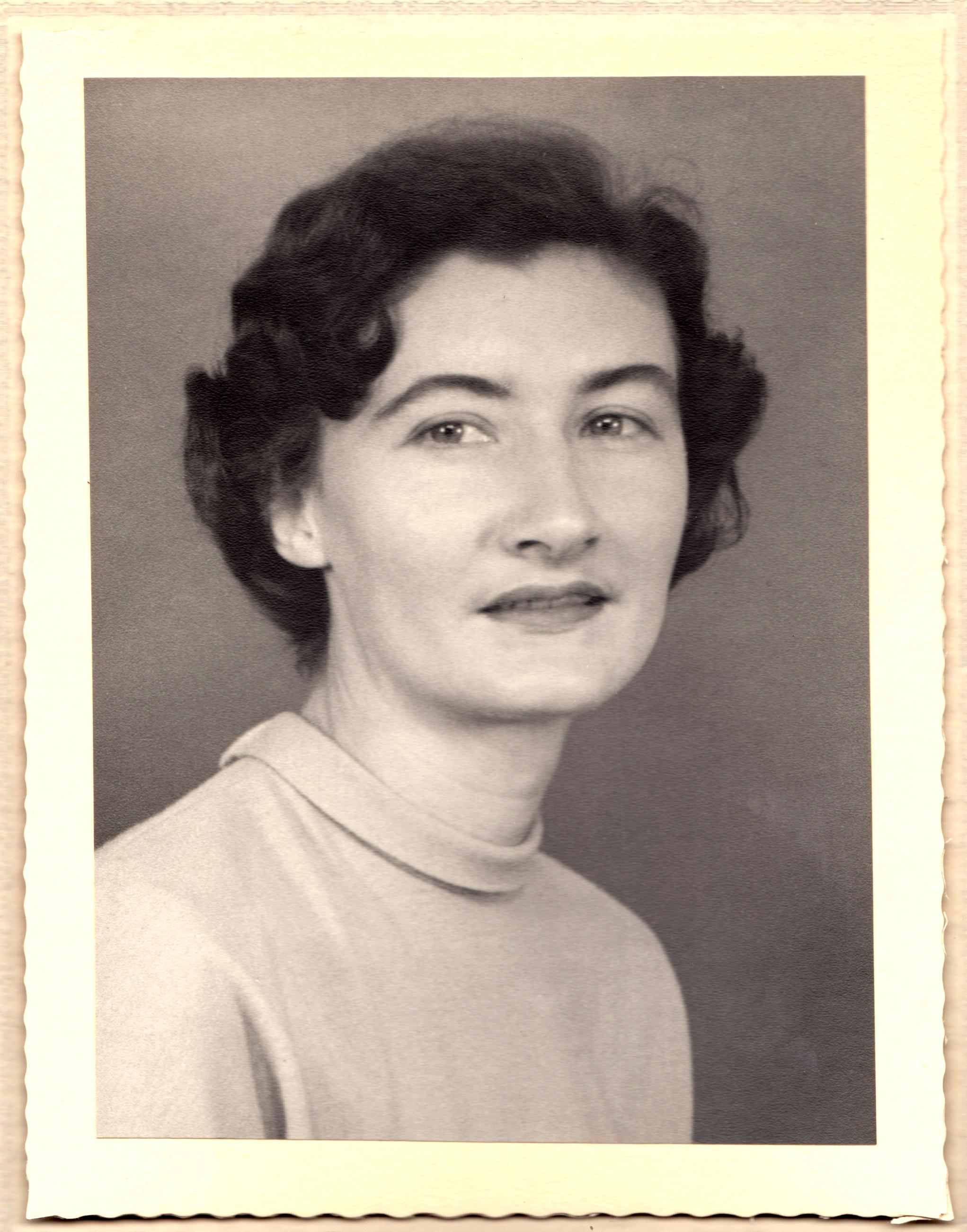 Ann Rosemary Murton Dixon Black & White