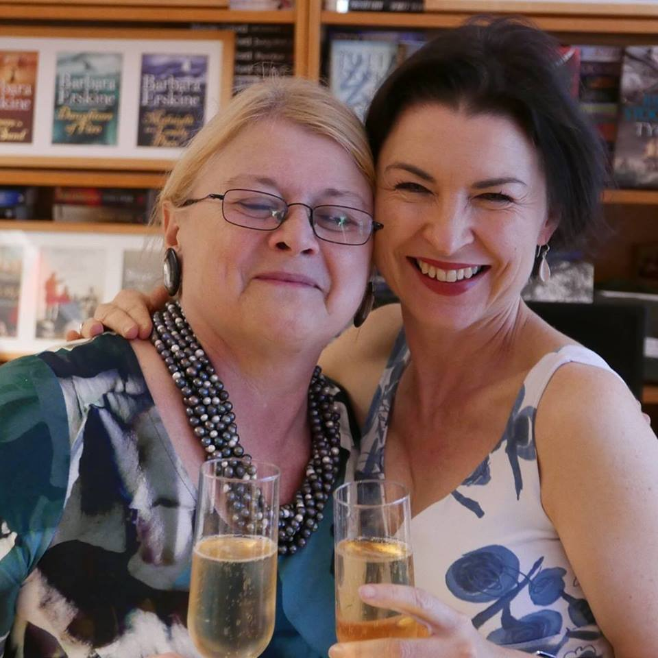 Photo of Carole Blake - with champagne & pearls, on her 70th birthday in September - by our colleague Conrad Williams.