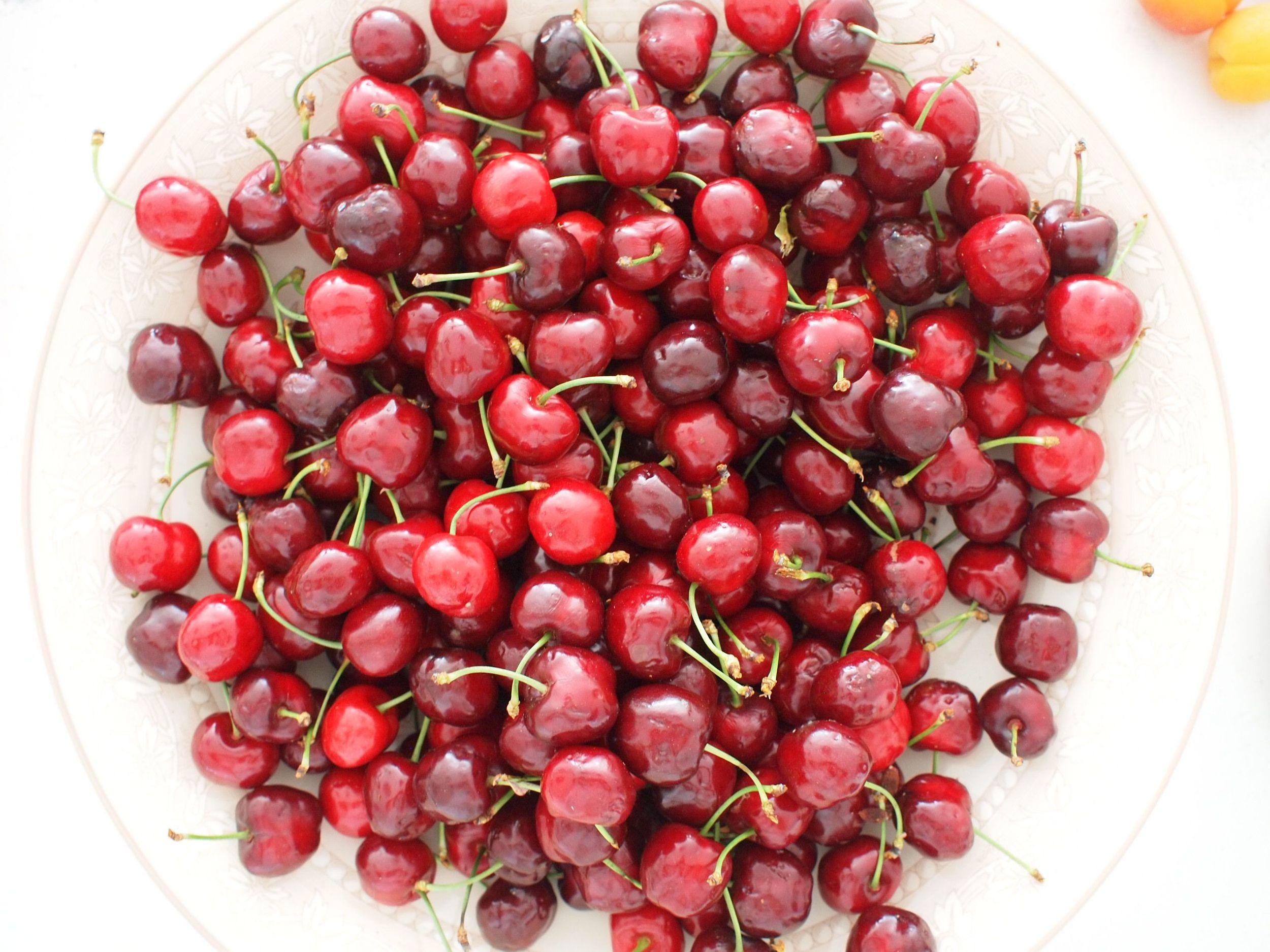 life. bowl. cherries.