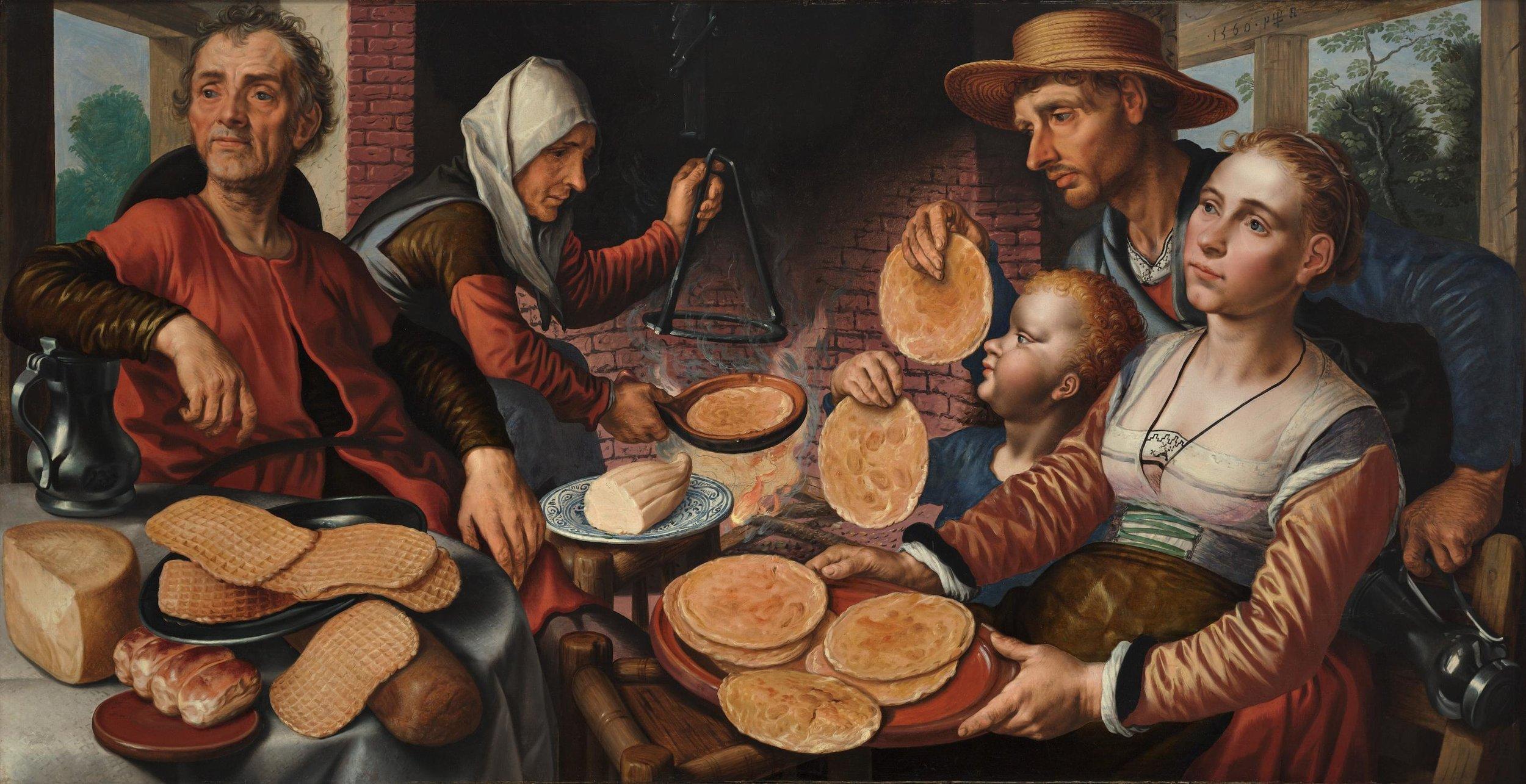 The Pancake Bakery, Pieter Aertsen (in 1560) , Museum Boijmans Van Beuningen