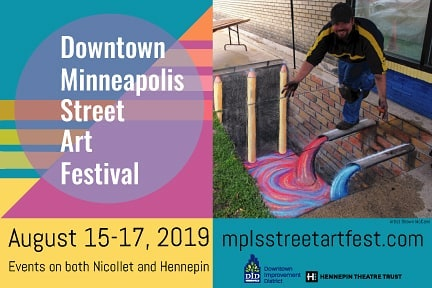 The Downtown Minneapolis Street Art Festival begins today! See works from artists from the worlds of visual, performing, craft and food arts and unleashes them together for the first time onto the streets of downtown for all to enjoy.