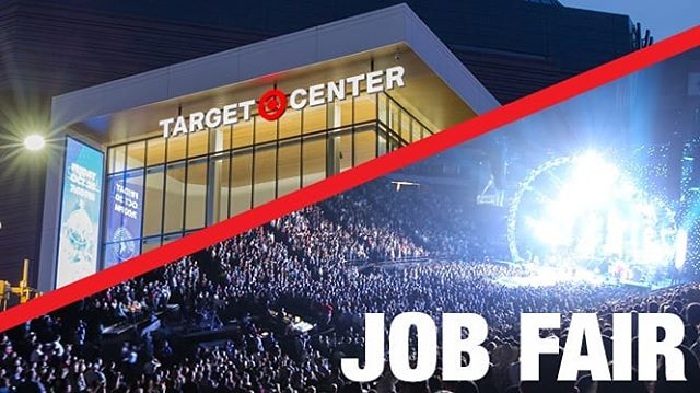 Join the @targetcentermn team and stop by the Target Center Job Fair on Wednesday! Visit targetcenter.com/jobfair to learn more.
