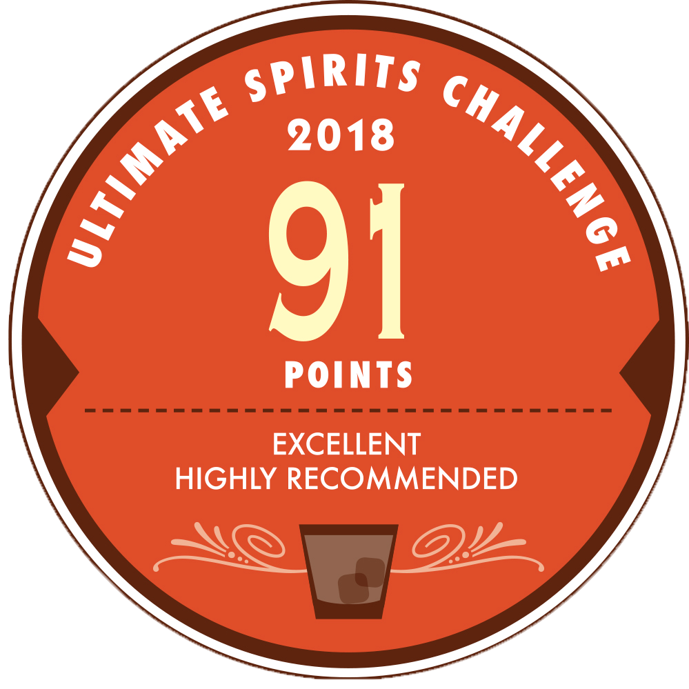 XO 20th Anniversary : Ultimate Spirits Challenge 2018, 91 Points Excellent HIghly Recommended, US