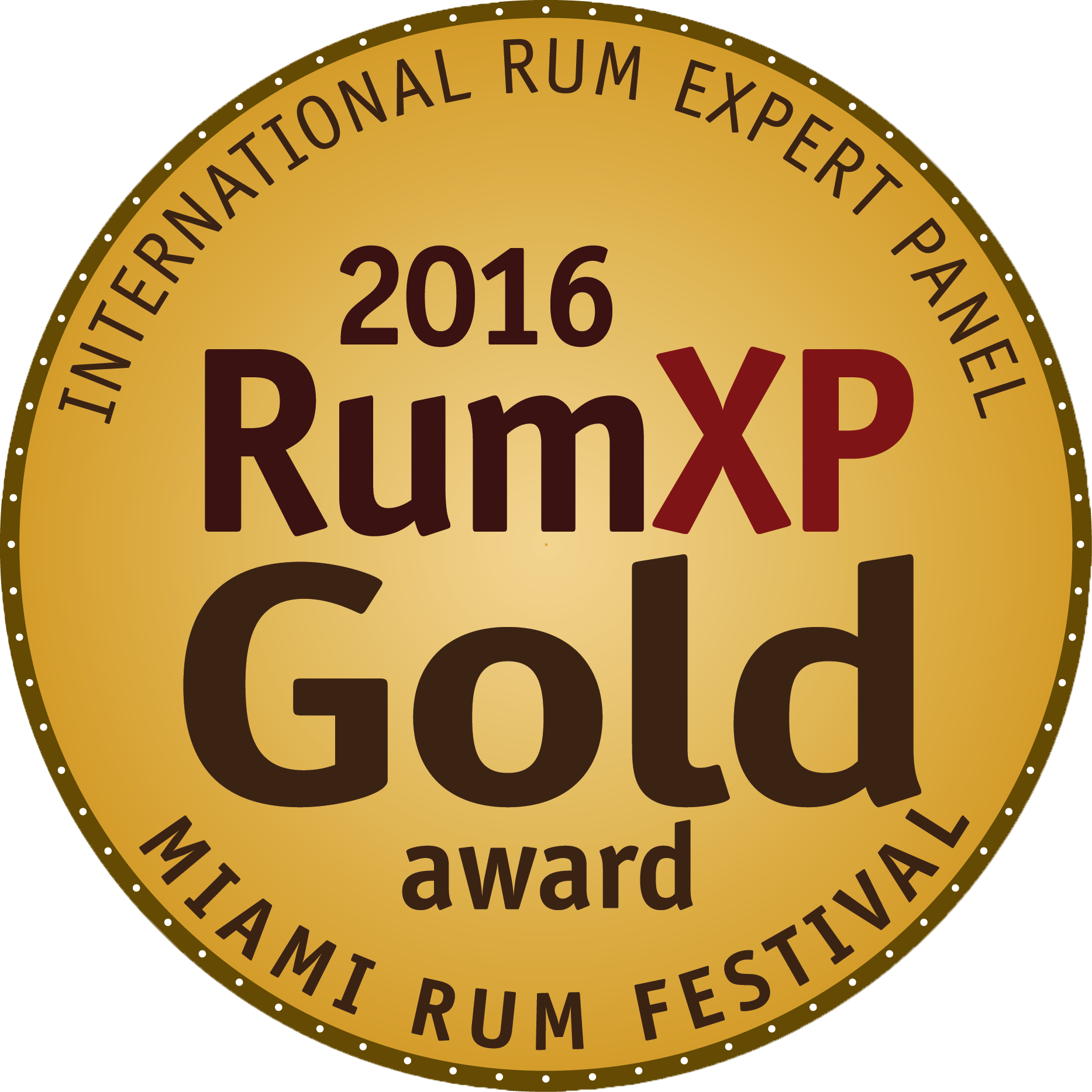 Barbados 5 Years : RumXP Miami 2016, Gold Medal, US