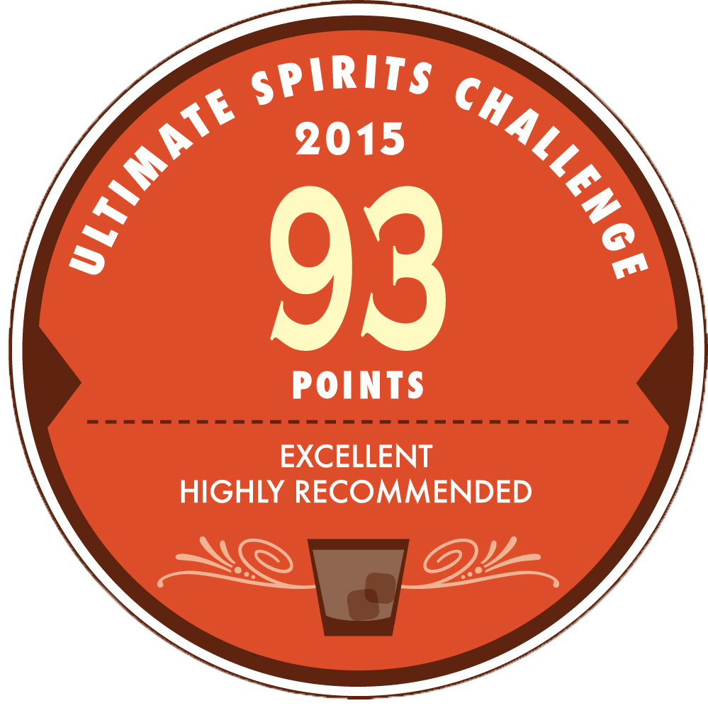 3 Stars : Ultimate Spirits Challenge 2015, 93 Points Excellent Highly Recommended, USA
