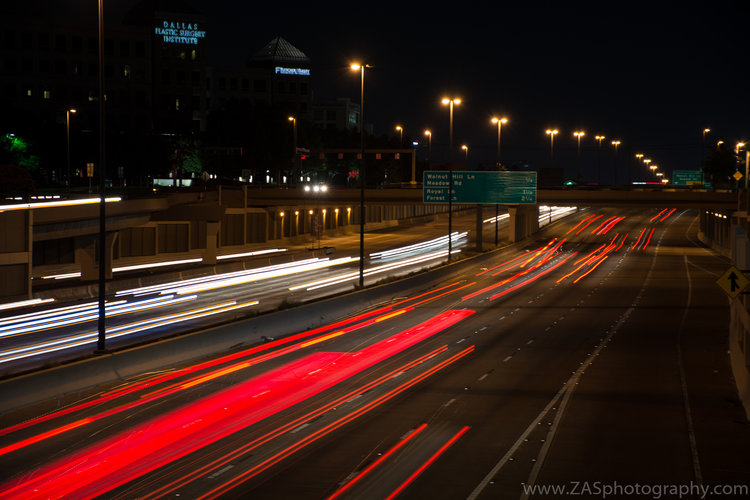 Cars in motion, TX.