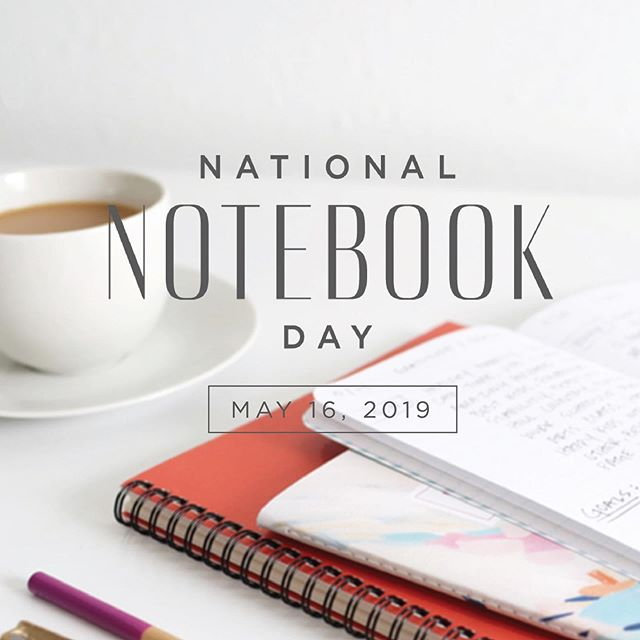 It's coming! 💃🏼💃🏼 The fourth annual #nationalnotebookday is TOMORROW! Stay tuned for info about an exciting $500+ sweepstakes giveaway with your favorite notebook brands. Get ready to party, notebook lovers! 🎉