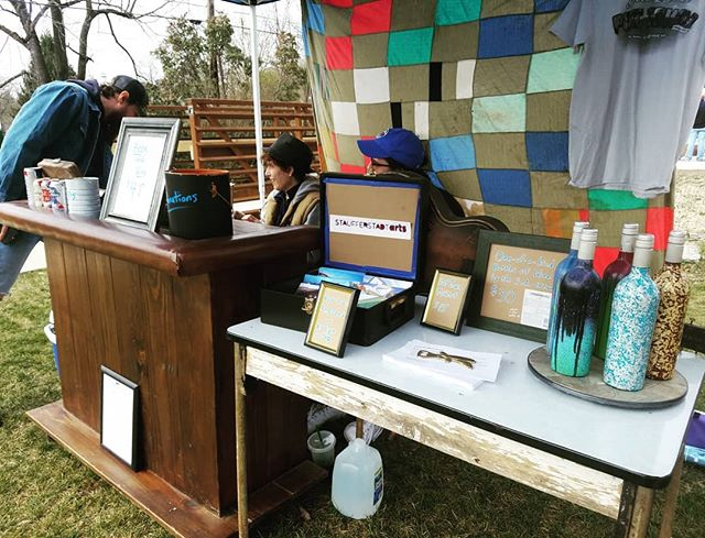 Come check out the Staufferstadt Arts drink lounge, in the green space in the center of town. All part of the Vintage in the Valley event. #strasburgva