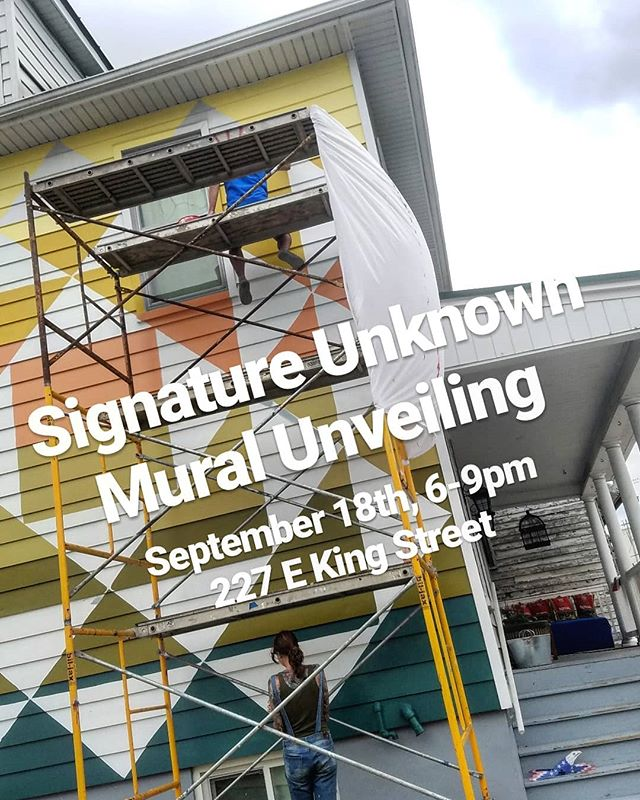 Come celebrate the newest mural in Strasburg VA tomorrow,  created by the amazing @signature.unknown. food, drinks, music, and fun for all! - Food by @boxofficebrewery  Music by @cardinalfolk