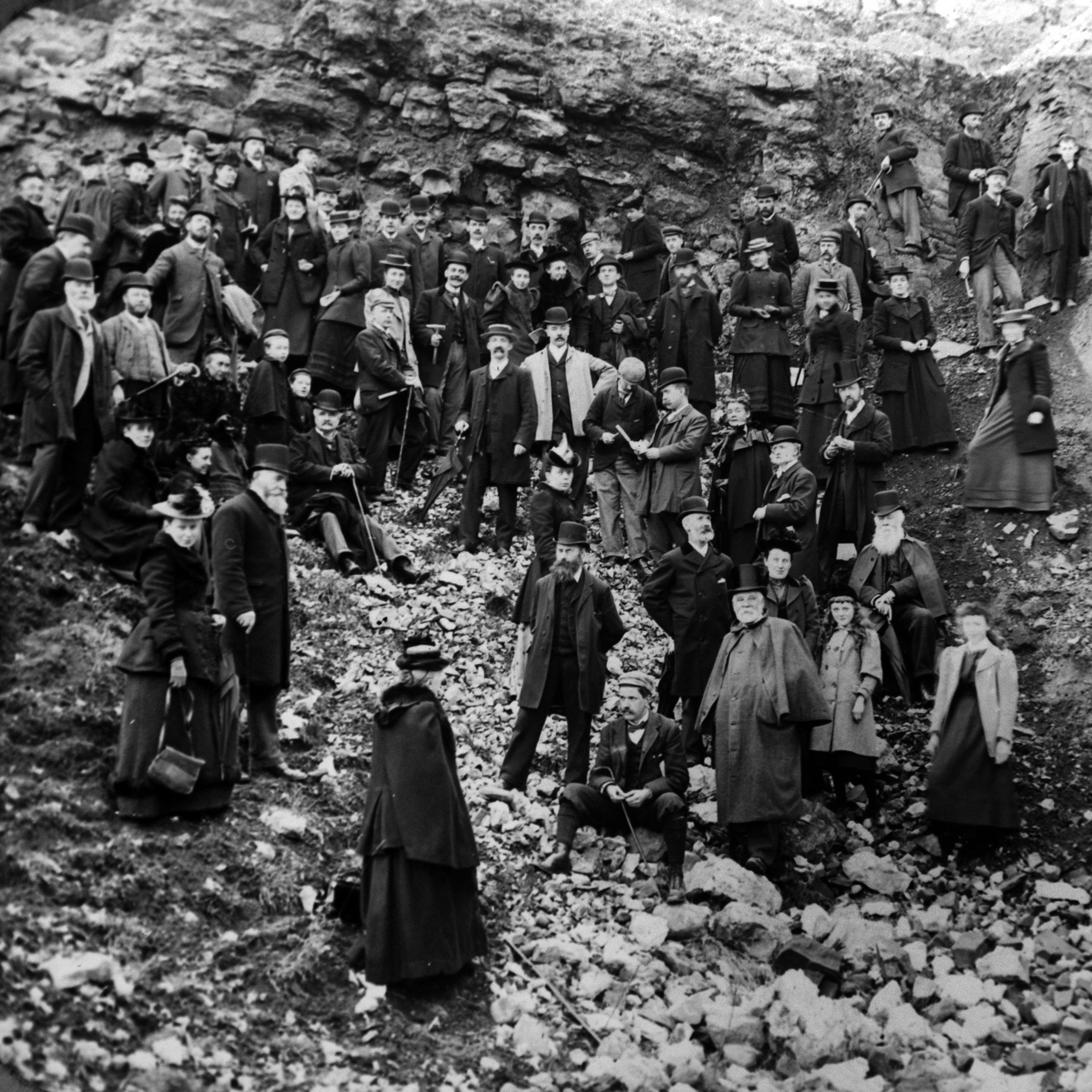 JSHP-BNFC Geology class, Cavehill quarries, 17-3-1894..JPG