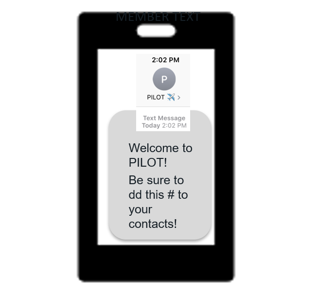 Member Text Message
