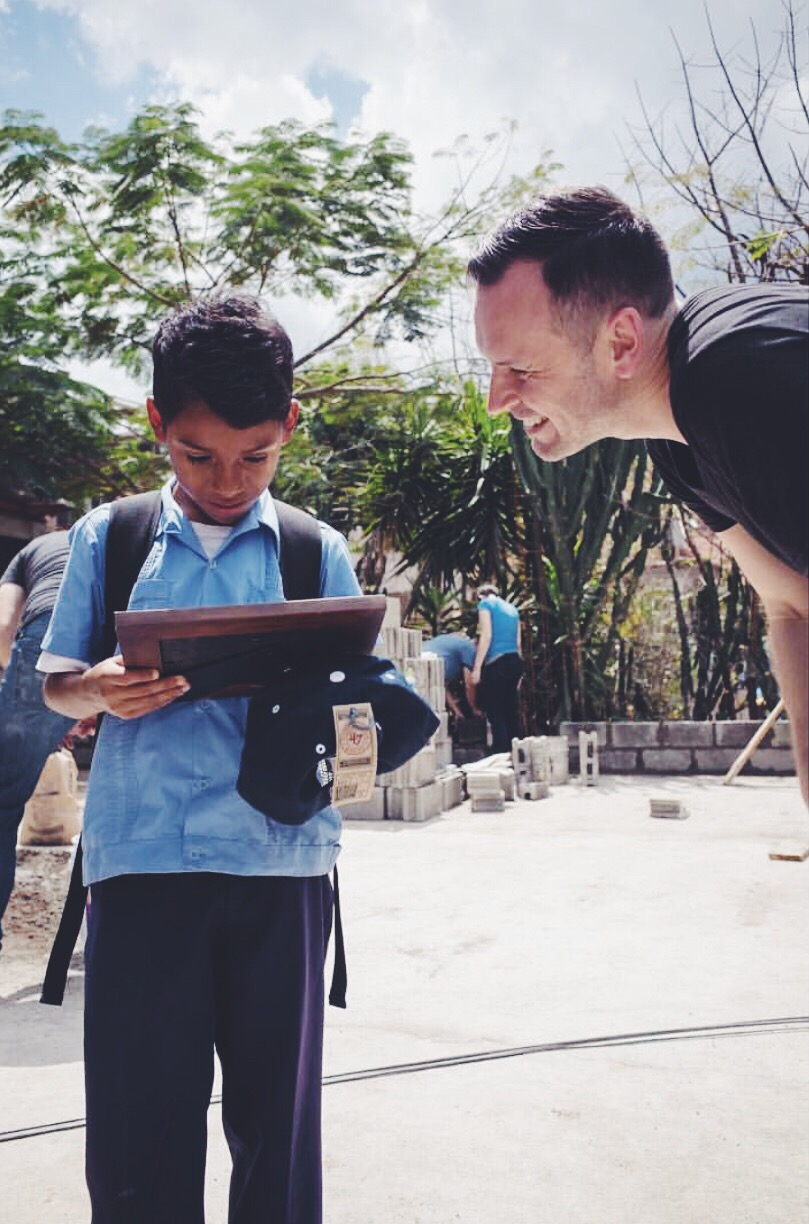 Paul with our Sponsor Child who's name is Ever in Honduras this week